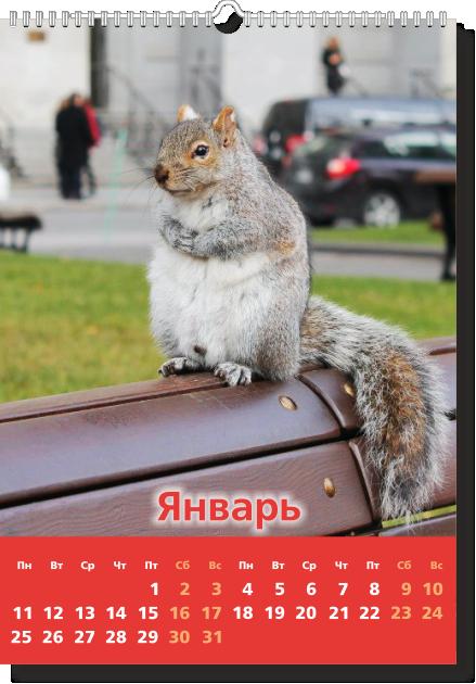 Настенный перекидной календарь А3