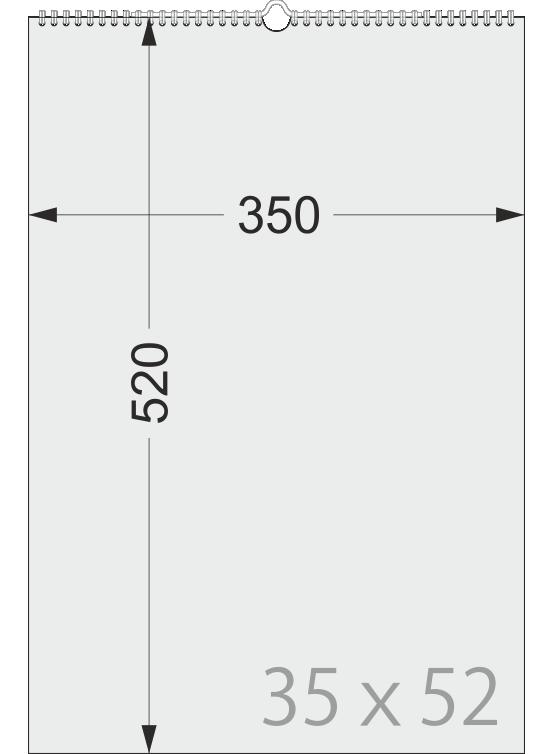 Размеры перекидного календаря МАКСИ