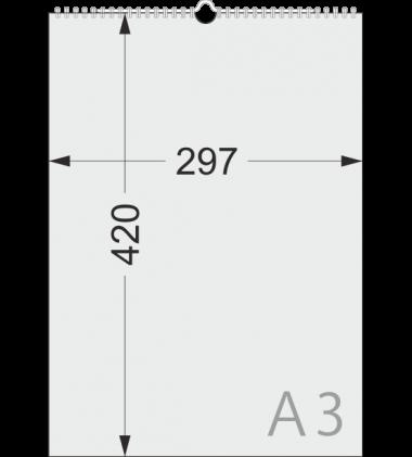 Размеры перекидного календаря А3